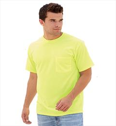 Irregular Pocketed Crew-neck T-Shirt 50/50% Cotton/polyester