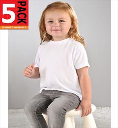 Irregular 5-Pack Toddler T-shirts