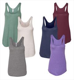 Slightly Irregular Triblend Ladies Racerback Tank Top